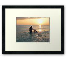 Daddy & Me Framed Print