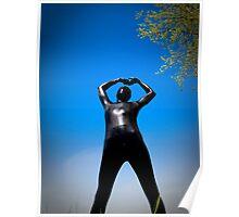 Black Snakeskin Zentai in the Field 4-4 Poster
