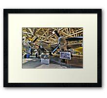 Plane on Display Pseudo HDR Framed Print