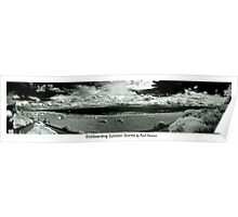Kiteboarding Summer Storms Infra red panorama Poster