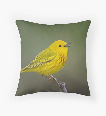 Yellow Warbler Throw Pillow