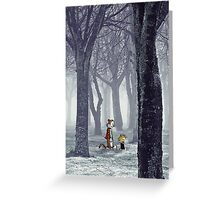 Calvin and Hobbes Winter Greeting Card