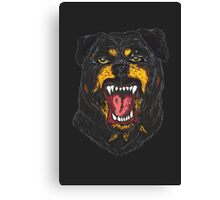 Furious Rottweiler Canvas Print