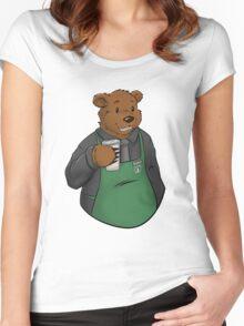 Brewce the Bearista Women's Fitted Scoop T-Shirt