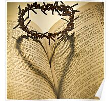 Crown Of Thorns with Open Bible Poster