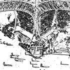 Eiffel Tower, Paris - Derivative by Peter Sandilands