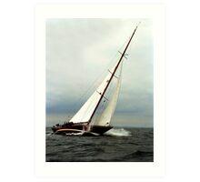 Sailboat racing Art Print