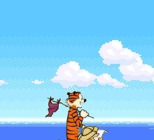 Calvin and Hobbes 16 Bit by bassesafari