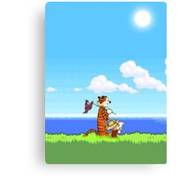 Calvin and Hobbes 16 Bit Canvas Print