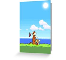 Calvin and Hobbes 16 Bit Greeting Card