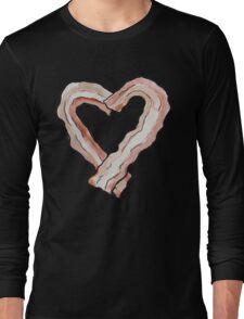 Bacon Heart Long Sleeve T-Shirt