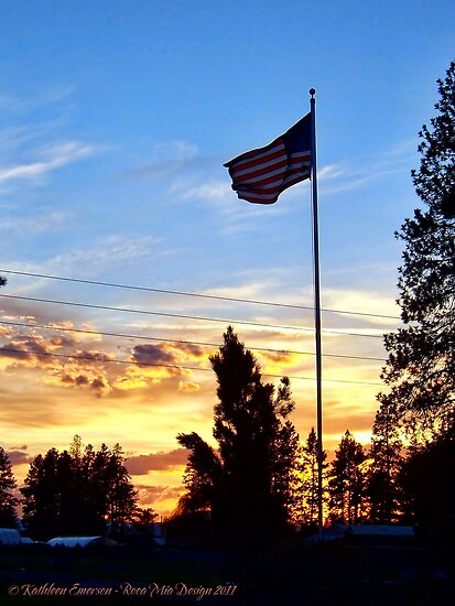 Old Glory Sunset by rocamiadesign