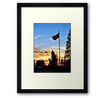 Old Glory Sunset Framed Print