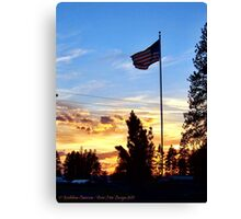 Old Glory Sunset Canvas Print