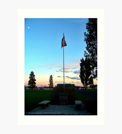 Old Glory Dusk (Veteran's Memorial) Art Print