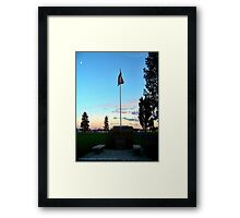 Old Glory Dusk (Veteran's Memorial) Framed Print