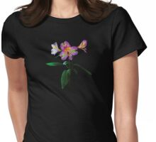 Lovely Pink Asiatic Lilies Womens Fitted T-Shirt