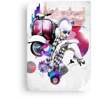 Up Town Top Scooter Girl Canvas Print