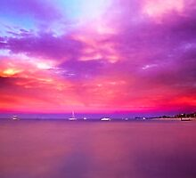 Sunset over Geographe Bay 4 by Julia Harwood