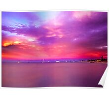 Sunset over Geographe Bay 4 Poster