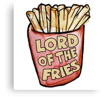 Lord of the fries Canvas Print