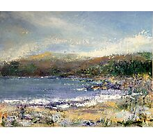 towards the scottish highlands- storm brewing Photographic Print