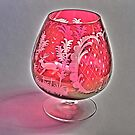 Ruby Red Crystal Glass  by glennc70000