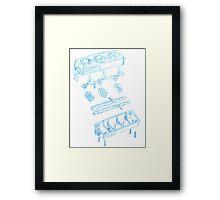Engineering sketch Framed Print