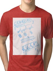 Engineering sketch Tri-blend T-Shirt