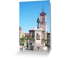 Cervantes Plaza, Alcala de Henares, Madrid, Spain Greeting Card