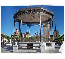 Quiosco de la Musica (Bandstand), Cervantes Plaza, Alcala de Henares, Madrid, Spain Poster
