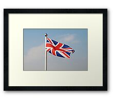 Union Jack flag, England Framed Print