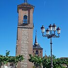 Tower of Judge's Chapel, Cervantes Plaza, Alcala de Henares, Madrid, Spain by MONIGABI