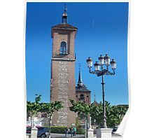 Tower of Judge's Chapel, Cervantes Plaza, Alcala de Henares, Madrid, Spain Poster