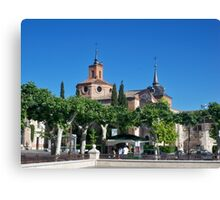 Judge's Chapel, Cervantes Plaza, Alcala de Henares, Madrid, Spain Canvas Print