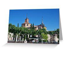 Judge's Chapel, Cervantes Plaza, Alcala de Henares, Madrid, Spain Greeting Card