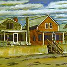 Cottages Along Moody Beach, Maine by Richard Nowak