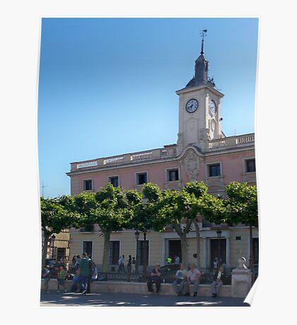 City Hall, Cervantes Plaza, Alcala de Henares, Madrid, Spain Poster