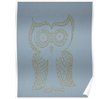 Gold Owl Poster