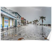 The day after Hurricane Sandy on Governor Woodes Rogers Walk in Downtown Nassau, The Bahamas Poster