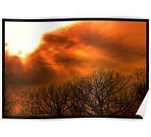 Burnt Sunset Poster