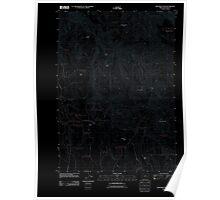 USGS Topo Map Oregon Monument Peak 20110819 TM Inverted Poster