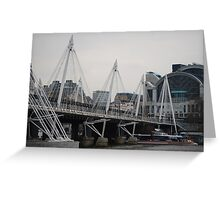Millenium Bridge at day - London Greeting Card