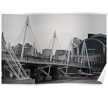 Millenium Bridge at day - London Poster