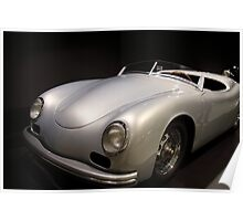 silver porsche car Poster