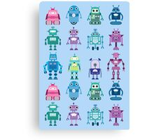 Robot Grid  Canvas Print