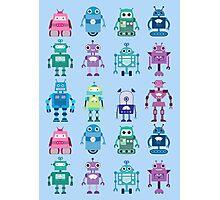 Robot Grid  Photographic Print