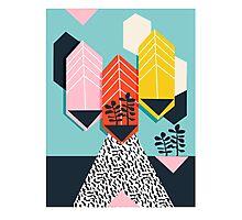 Legit - throwback 80s style memphis neon texture art print pop art dorm college hipster trendy urban brooklyn palm springs Photographic Print