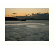 Elliot Bay at Dusk Art Print