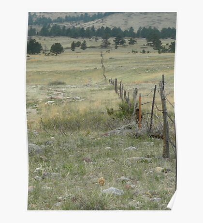 Open Space Fence Poster